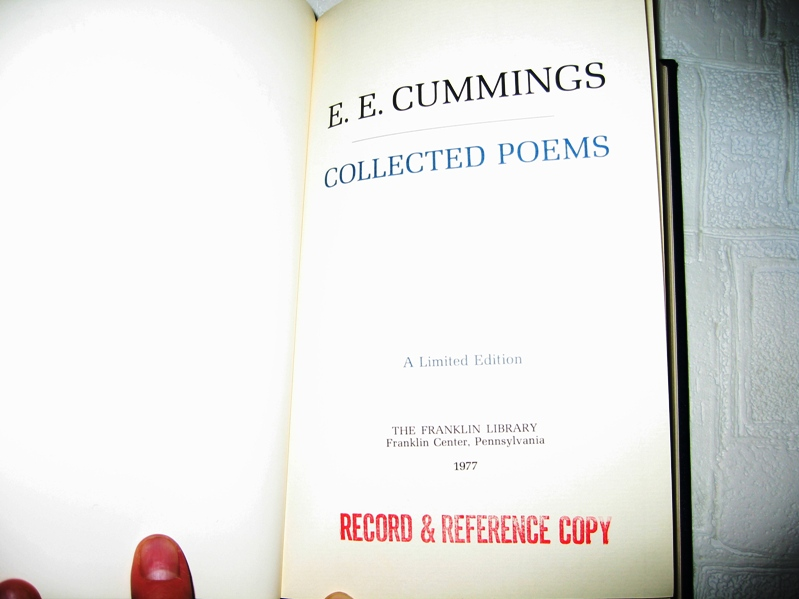 """a literary analysis of the poetry by e e cummings The poem, """"since feeling is first"""" by e e cummings, was first published in 1926 in the book is 5 this book is divided into five sections, and """"since feeling is first"""" is poem """"vii"""" of section """"four."""